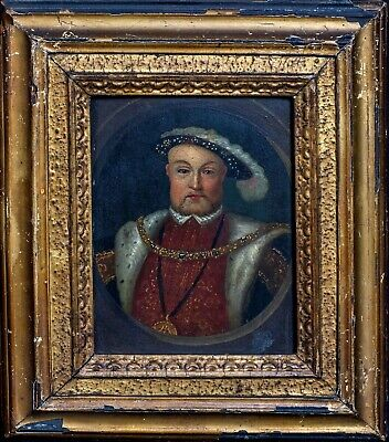 17th Century English School Portrait Of King Henry VIII Of England Oil Painting