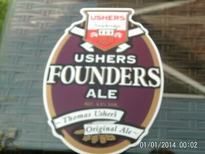 Ushers Founders Ale  Pump Clip