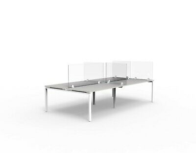 Acrylic Desk Screen for Offices, Full Height Acrylic Desk Partition / Divider