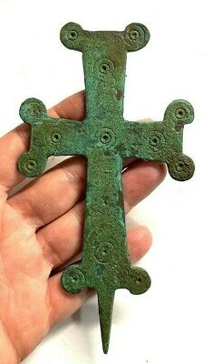 Large Byzantine Bronze Cross .