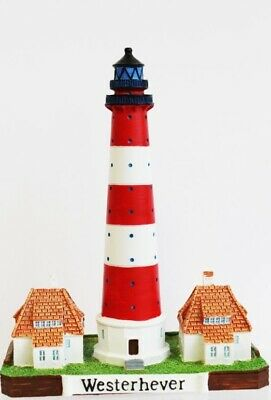 Leuchtturm Westerhever 20 cm Poly Modell Souvenir Germany Lighthouse