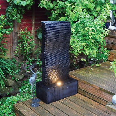 LED WATER FEATURE RIPPLE WALL OUTDOOR GARDEN FOUNTAIN Wido