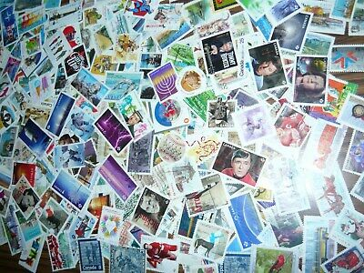 Lot#5 Used Canada Stamps 100    Stamps   Larges Only All Different