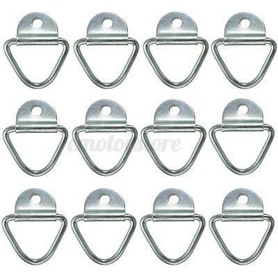 12pcs Zinc Plated Lashing Ring Cheat Tie Down Anchor Load Cargo Trailer Van Boat