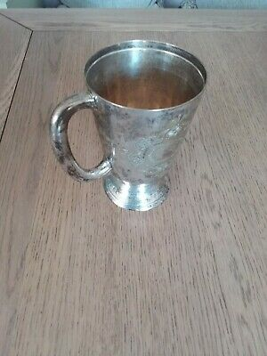 Antique  silver tankard ,victorian napoleonic cup argent