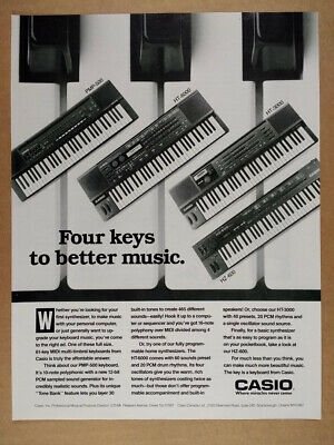 1989 Casio PMP-500 HT 6000 3000 HZ-600 Synthesizers vintage print Ad