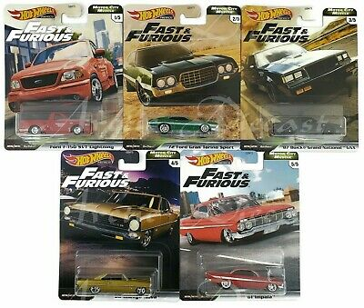 Hot Wheels Premium 2020 Fast & Furious Motor City Muscle Complete Set of 5 NEW
