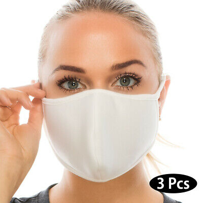 Face Mask - 3 Pcs High Quality, Man, Women, Reusable, Made in USA, Washable