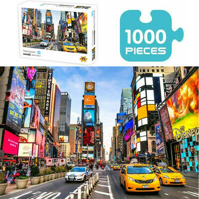 Jigsaw Puzzles 1000 Piece New York Times Square for Adult Kids Puzzle Gift Toy