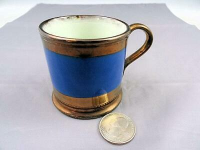 Antique Copper Luster Luster Childs Mug With Blue Band