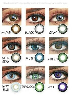 colored contacts new colors 2 lenses per pack