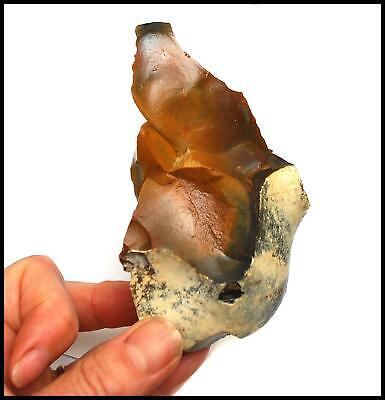 Paleolithic Achuelian early man bifacial hand axe British flint tool antiquities