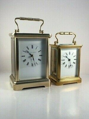 Vintage Large Swiss  Carriage Clock & Key. Full Clean And Service May 2020