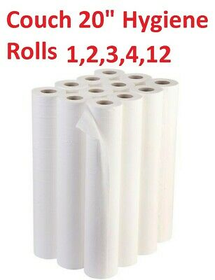"Paper Roll 20"" Recycled Hygiene Beauty Salon GP Massage Couch Table Bed Cover"