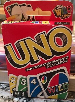 Uno Get Wild Card Game with Customizable Wild Cards 2-10 Players Ages 7+