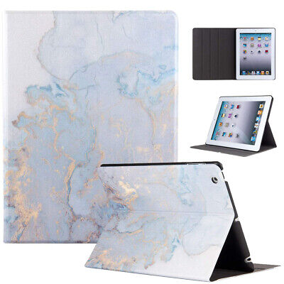 Marble Case for iPad 7th Gen 10.2 2019 Stand Smart PU Leather Hard PC Back Cover