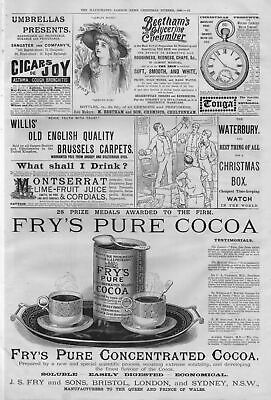 Fry's Pure Concentrated Cocoa Asthma Cough Hay Fever Relief Cigars Cigarettes