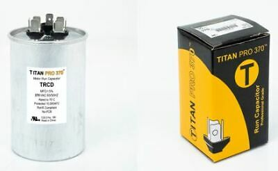 5 uf 370//440 Volt Volt VAC AmRad Round Dual Run Capacitor Pack 2 Payne HC98JA041-40 Made in The U.S.A.