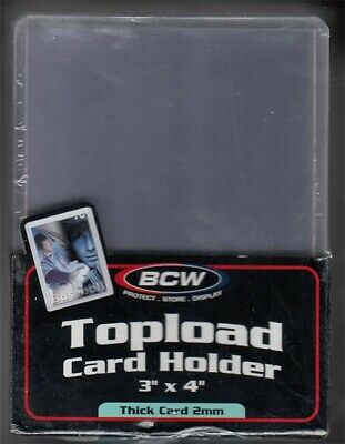BCW 2mm Thick Baseball Trading Card Hard Plastic Topload Holders 79pt Pack of 25