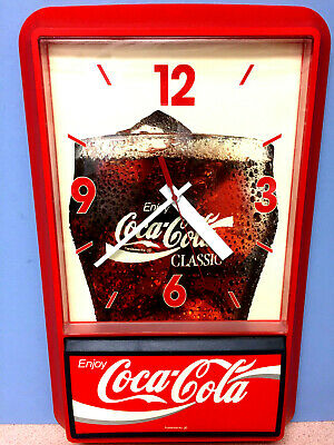 VINTAGE COCA COLA ENJOY COKE Battery Operated WALL CLOCK WORKS