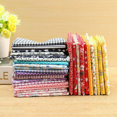 50*50cm Cotton Fabric 5Pcs Mixed Pattern Sewing Patchwork DIY Quilting Crafts US