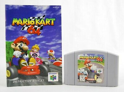 Mario Kart (Nintendo 64, 1997) with Instructions - Tested!
