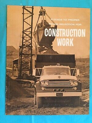 """1960 Ford """"A Guide To Proper Truck Selection For Construction Work"""" Brochure"""