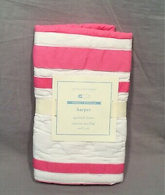 Pottery Barn Kids Bright Pink Harper Quilted Small Sham Addison Monogram