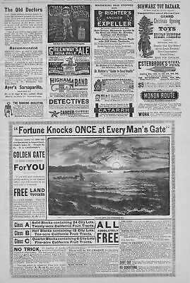 California Golden Gate Free Land Voucher Free Lots Tracts Title Dancing Skeleton