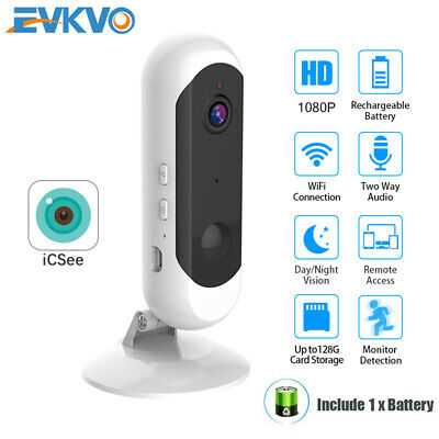 HD 1080P WiFi IP Camera Rechargeable Outdoor Battery Powered SPY Hidden Security