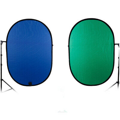 2 in 1 Background Panel Backdrop Set Reversible Blue/Green Pop Up Collapsible