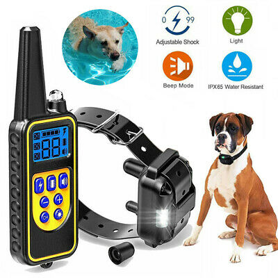 Dog Shock Collar Training Pet Trainer Waterproof 875 Yards With Remote Control