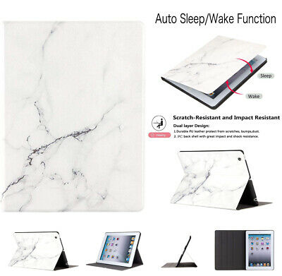 for iPad Air 3rd Gen 2019 Pro 10.5 Marble Design Case Smart Magnetic Stand Cover
