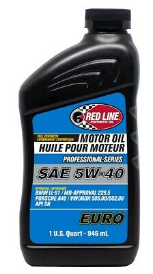 Red Line 12904 Professional Series 5W40 Euro Motor Oil