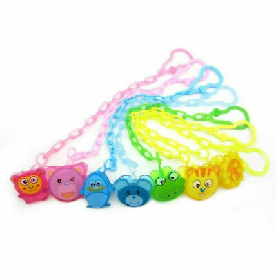 Dummy Clip Baby Soother Clips Chain Holder Pacifier Strap - Select Color