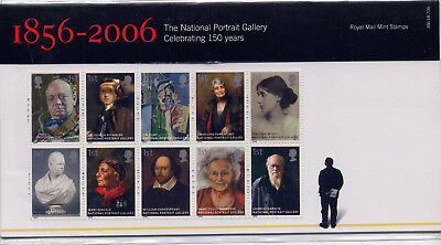 GB 2006 150th ANNIVERSARY of NATIONAL PORTRAIT GALLERY PRESENTATION PACK No.386