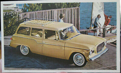 1959 Steudebaker Lark Station Wagon Dealer promotional postcard view