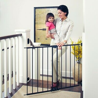 """Baby Safety Gate 29''-47"""" Wide Walk Through Door Fence Stairs Child Pet New Tall"""