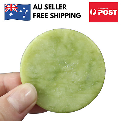 Jade Stone Lash Pallet for Eyelash Extension Adhesive Glue Holder Round Green