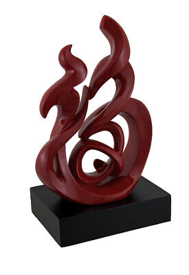 Good Fortune Red Chinese Calligraphy Art Statue
