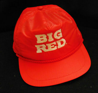 Big Red Soda Hat *Vintage* Snapback Trucker Rope Accent Texas Work Advertisment