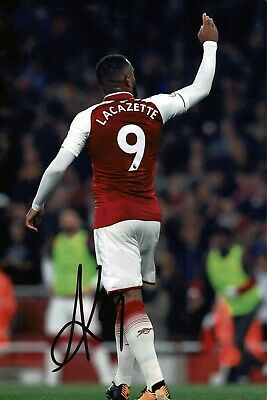 Alexandre LACAZETTE Arsenal Football SIGNED Autograph 12x8 Photo B COA AFTAL