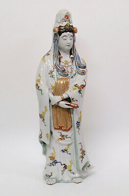 "Big 24"" Antique Signed Japanese Porcelain Guanyin Statue Figure - Guan Yin"