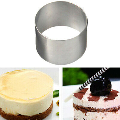 Cake Pastry Ring Stainless Steel Oval Shapes Mousse Cutter Baking Mold DIY8C