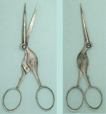 Antique Steel Stork Scissors * English * Circa 1890s