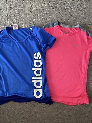 Girls Nike And Adidas Sports Tops. Dry Fit. Size M (10-12yrs)