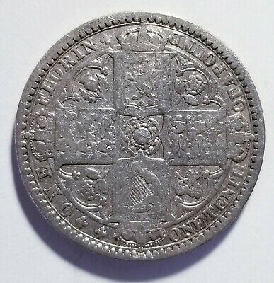 1849 Great Britain 1 Florin 2 Schillings .925 Silver Shipped FREE B165