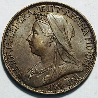 GREAT BRITAIN - Queen Victoria - Farthing 1899 - Km-788.2 - Choice UNCIRCULATED!