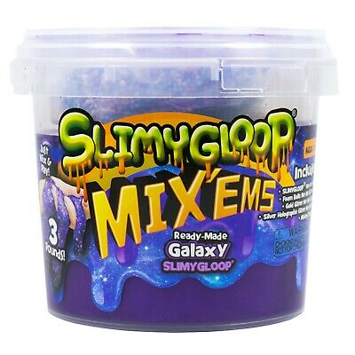 SLIME Galaxy, Bucket of Ready-Made, Just Mix and Play (3 Pounds)