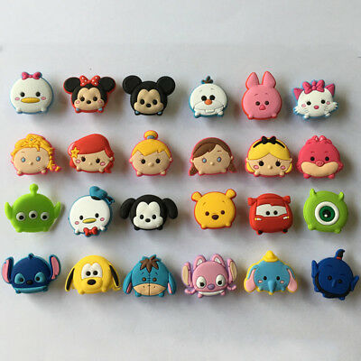 50pcs Lot Tsum Tsum Mickey Minnie PVC Buckles fit for Shoes Wristband Kids Gifts